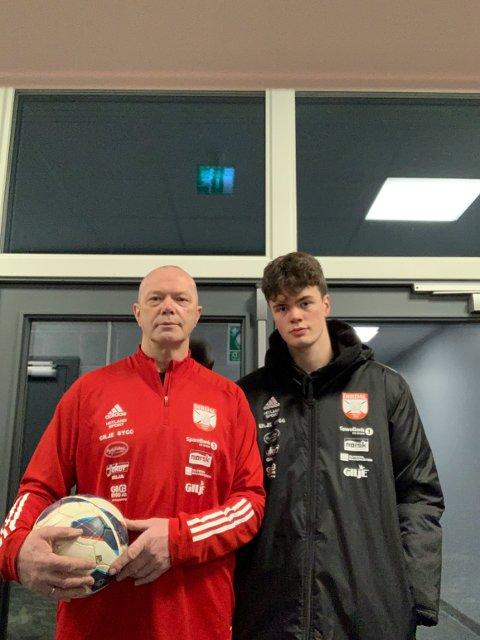 Asle Jakobsen og sønnen Jan Erik Jakobsen er nye trenere for a-laget til Dirdal.