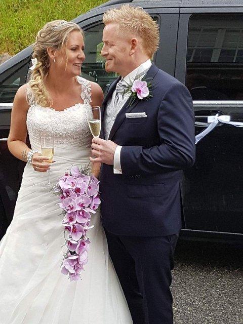 GIFT: Bryllupsnatten til Marita Von Zernichow og Haakon Lorentzen Hamre fikk enn litt uventet vending. Foto: Privat