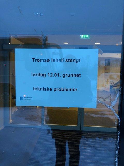 KOM IKKE INN: I Tromsø var det heller ikke mulig å spille.