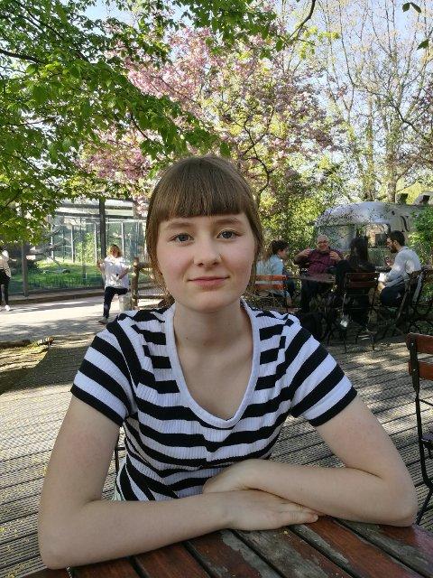 Vant: Agnes Finula Myrvold (12) vant konkurransen for bidrag levert av deltakere under 16 år.