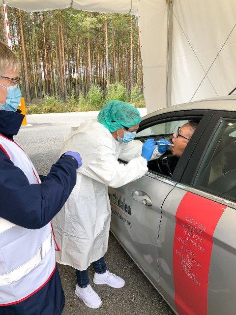 TEST: Siden nyttår er 3400 personer blitt testet for Covid-19 ved grenseteststasjonen på Magnormoen.