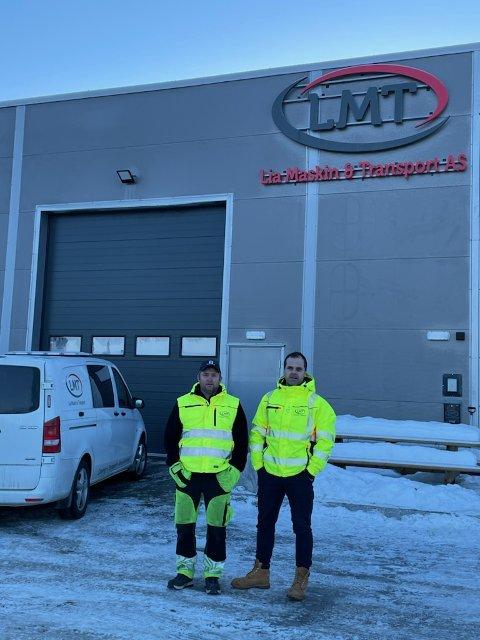 Torgeir Lia (t.v) og Ole Thomas Gudmundsen er oppgitte over tyveriet som fant sted søndag.