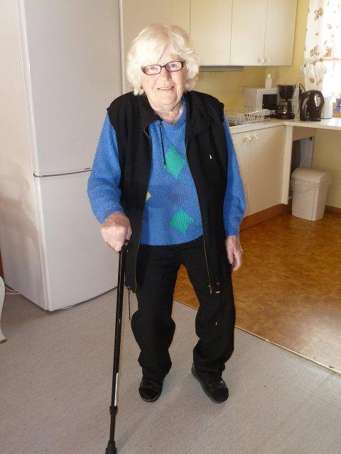 Overgang: Gerd Thordis Dyrud føler seg trygg og ivaretatt på Forset omsorgssenter. Men hun savner tingene sine, arvestykkene og verdiene fra hjemmet sitt.