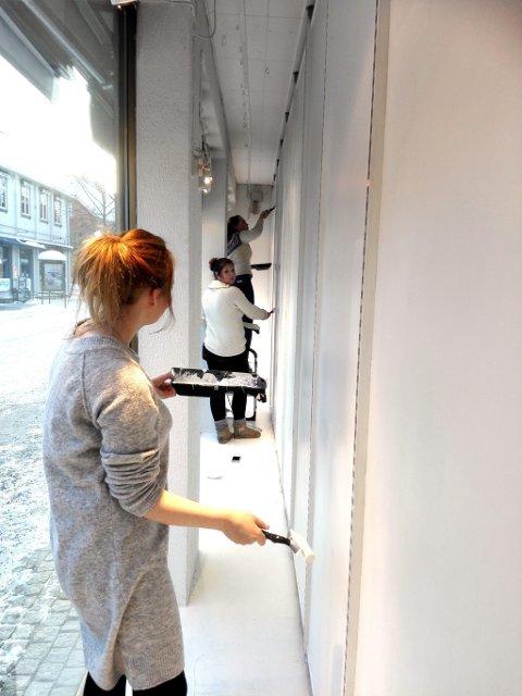 Lager utstilling med redesignede ballkjoler.