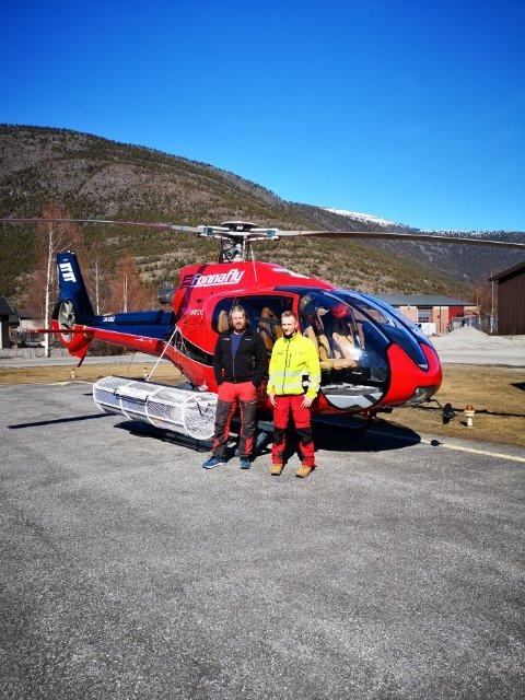 Jon Ove Velure og Henry Kringstad fra Fonnafly er klare til å fly ut hvis det skjer ulykker eller noen er i nød i fjellheimen.