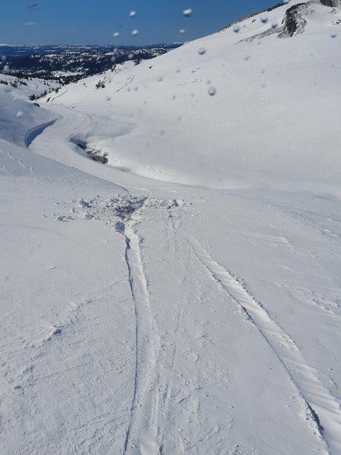 Ved Skeisleite var den vågale bilføreren på nippet til å spore av, men berget seg så vidt.