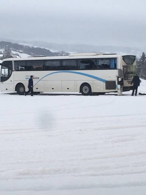 To busser kolliderte fredag morgen.