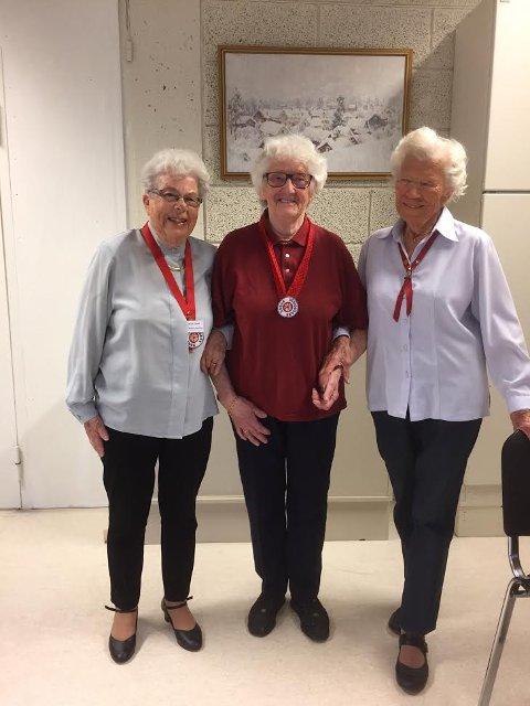 Fortsatt aktive dansere:  Randi Nareid, Karen Aschim og Ingrid Munkevold.