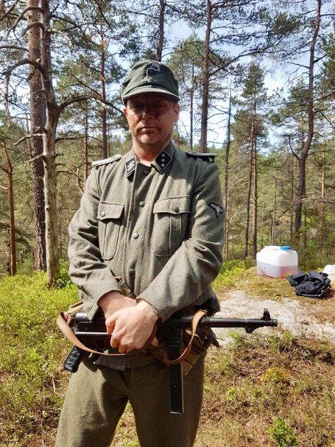 NY SERIE: Pål Espen Kilstad i rollen som frontkjemper i en TV-serie som vises på NRK i 2019.
