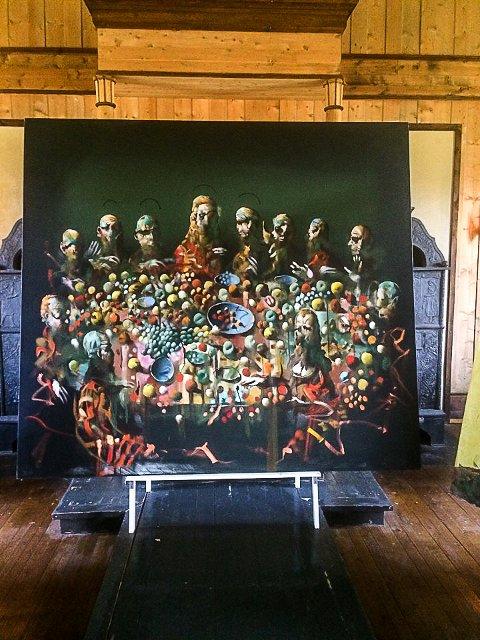 NATTVERDEN: Ett av Gullvåg-bildene som stilles ut i Jevnaker kirkes kapell.