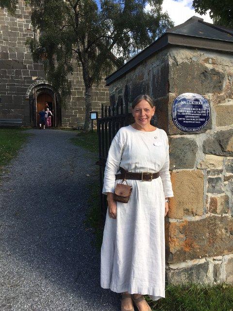 FORNØYD: Kari Alm Røken er godt fornøyd med sommerens besøkstall i Søsterkirkene.