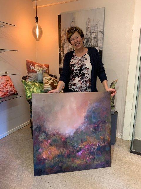 HØSTENS FARGER: Hilde Frankum er inspirert av høstens varme farger.