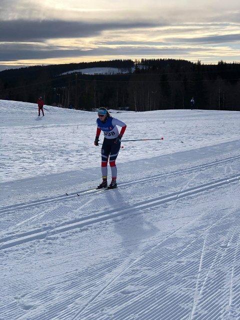 Mathea Nordvik (Brandbu) gikk et sterkt løp i Hovedlandsrennet og ble nr. 32 i 16-års klassen for jenter.
