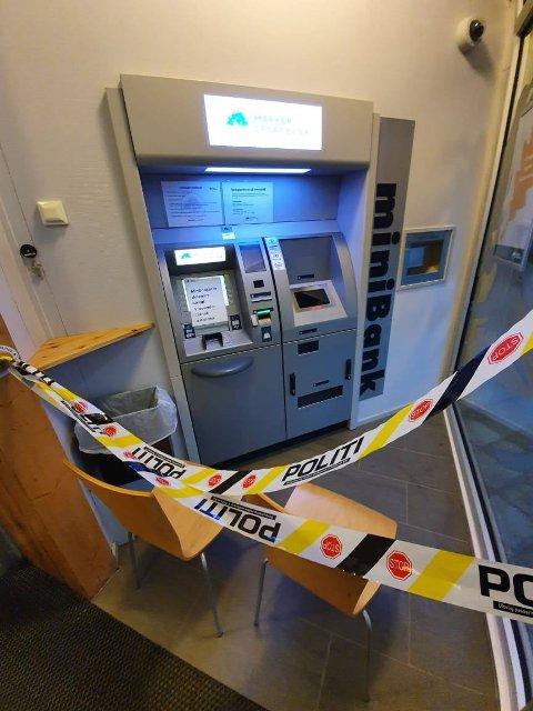OPTIMISTISKE: Politiet uttalte til HA i februar i år at de var optimistiske med tanke på oppklaring det grove innbruddet av minibanken i Aremark (bildet) og et innbruddsforsøk ved en minibank på Ørje. Nå er en mann tiltalt for forholdene.