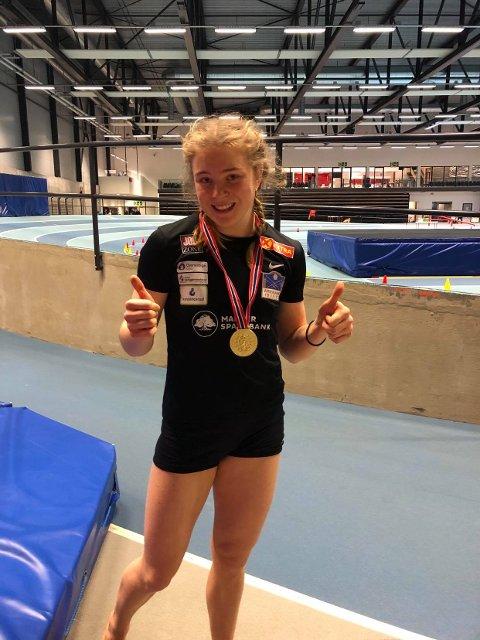 NYTT GULL: Henriette Jæger med nok et NM-gull etter helgens NM i mangekamp.