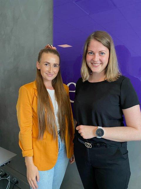 NYE FJES: Backoffice og salgskoodinator Kristin Berget og eiendomsmegler Ingrid Bøhmer er nyansatt hos Eie Hamar.