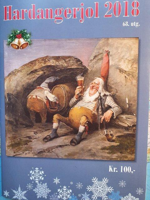 Tradisjonsrikt julehefte: Framsida til Hardangerjol i 2018, men så var det slutt. Tidlegare redaktør Hans Edvard Olsen trur det er mange som saknar bladet. – Dette kan eg seia fordi Hardangerjol har vore etterlyst av fleire no i desember, uttalar han. Foto: Privat