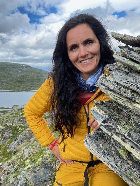 TURGLAD: Lærar Tone Ekkje likte best kroppsøving og O-fag på skulen og er glad i å gå fjellturar.