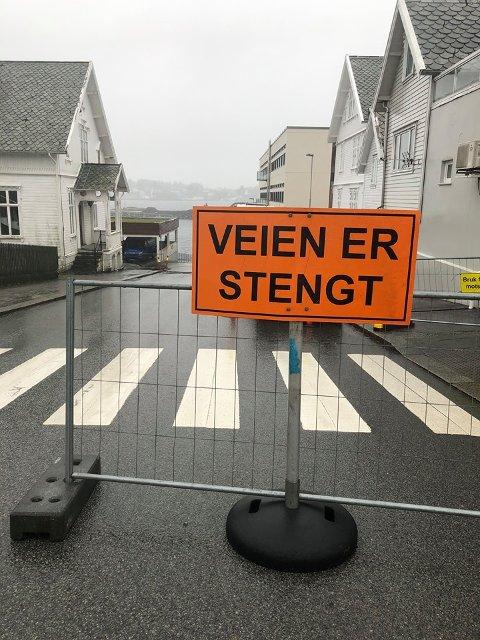 STENGT: Bjørgvingata mellom Haraldsgata og Strandgata.