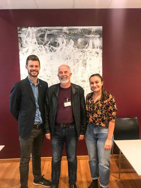LOBBYISME: Bjørnar Moxnes (t.v.), Gunnvald Lindset og Seher Aydar møttes 27. september. Berit Mortensen var ikke til stede da bildet ble tatt.