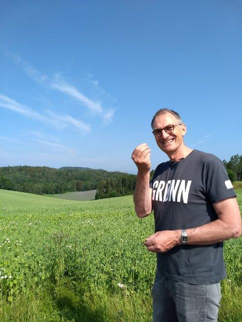 Harald Moskvil er landbrukspolitisk talsperson i Miljøpartiet de Grønne og ønsker seg mer grønnsaksproduksjon på Helgeland.