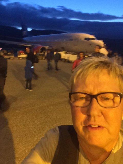 Wenche Pedersen la ut dette bildet på sin Facebook-prifil etter at de hadde landet på Banak.