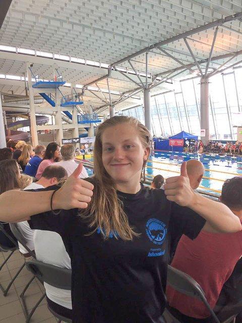 KAN NÅ LANGT: Kaia Norbye har stor kapasitet, og kan svømme seg inn i norgestoppen tror hennes trenerapparat.  Foto: Nordlysbyen Svømme- og Triatlonklubb
