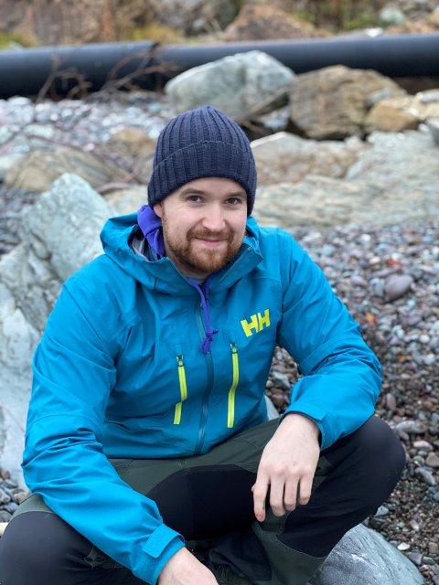GLAD I NATUREN: Morten Albertsen tilbringer gjerne tid ute i naturen når han ikke er på jobb som havnesjef i Båtsfjord.