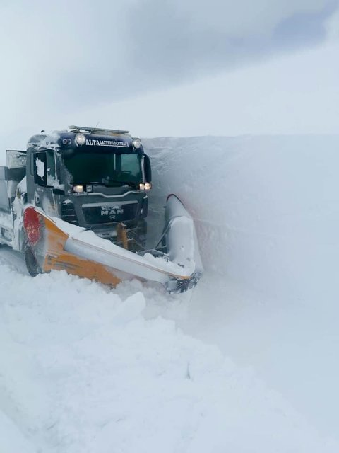 SNØRIKE RODER: Det kan komme mye snø på roden mellom Mehamnelv bru og Gamvik.