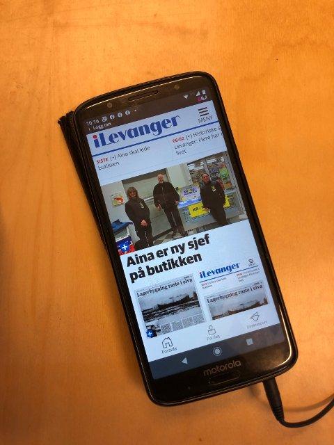 NY APP: Slik ser iLevanger-appen ut på Android-telefoner når du åpner den.