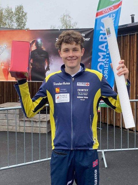 SEIER: Tobias Alstad leverte solide resultater under norgescupfinalen i Oslo.