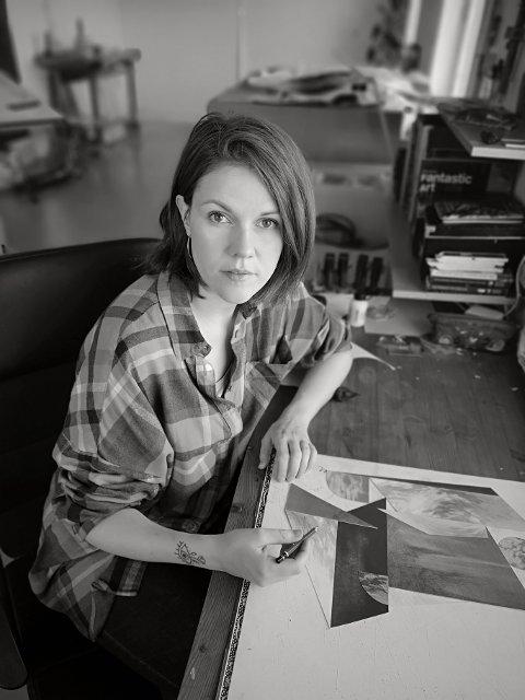 UTSTILLER: Rina Charlott Lindgren (f. 1983) bor og arbeider i Lofoten og har sin utdannelse fra Kunstakademiet i Trondheim og Listaháskóli Íslands, i Reykjavik.