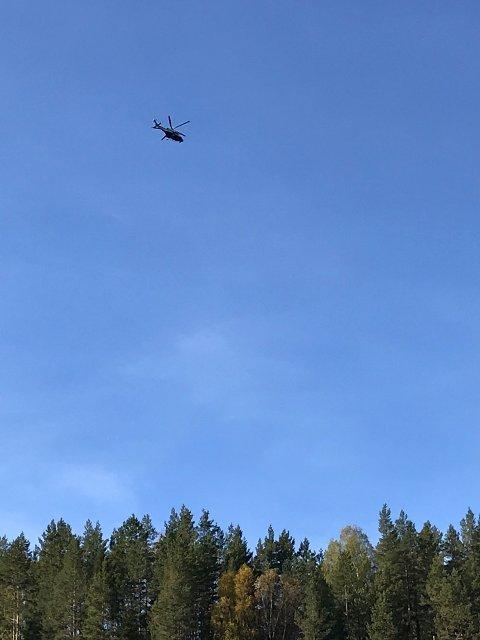 SØK: Helikopter i lufta over Kongsvinger.
