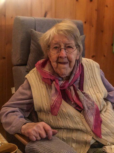100 år: Randi Rønaas fyller 100 år 5. desember.