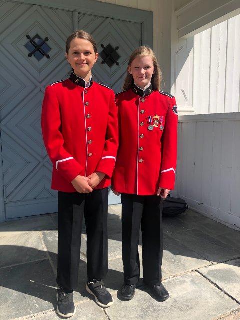 Erica Louise Vangen (11) og Astrid Tolstrup Snapa (snart 11) debuterer som kornettister i NM.