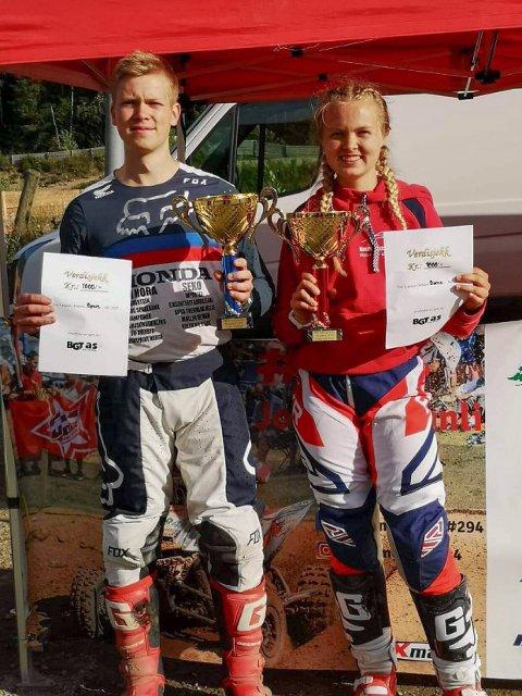 Rent bord: Silje og Joakim Granli fra Aurskog og NMK Aurskog-Høland lot seg ikke stoppe da årets norgescup i ATV ble innledet på hjemmebane. Duoen tok hjem seieren i hver sin eliteklasse.