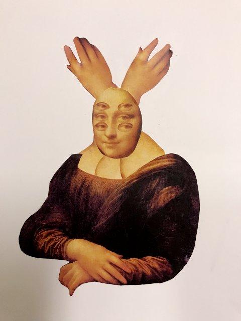 I en annen variant: Enn den vanlige får vi se Mona Lisa.