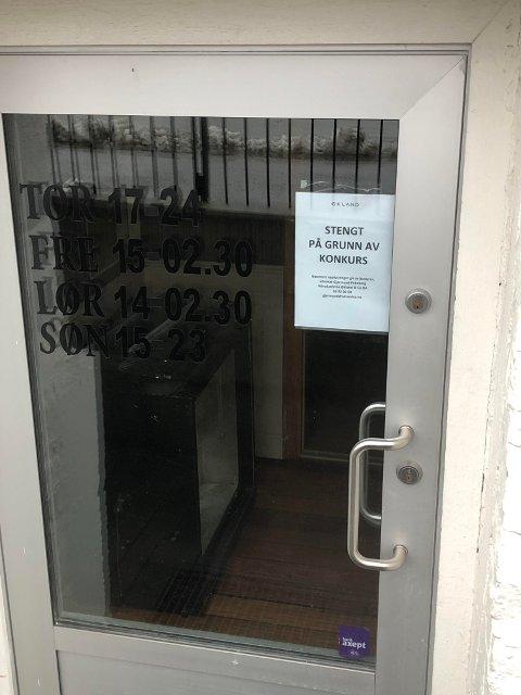 STENGT: Puben har holdt stengt siden 1. oktober. I går slo selskapet seg selv konkurs.