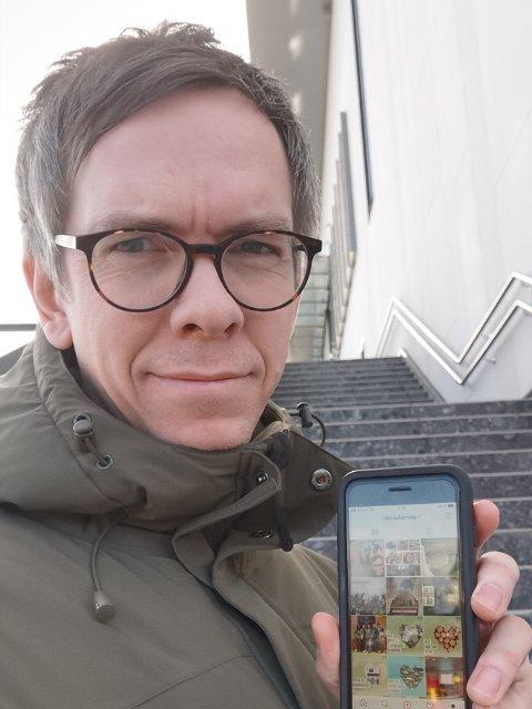 ALLTID PÅ: Espen Ludvigsen I Ullensaker MDG har ansvar for lokalpartiets postinger på sosiale medier.