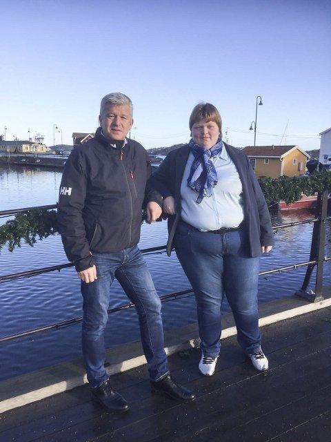 Økt fokus: Andrea Byvold Næss (t.h.) har vært i møte med ordfører Jone Blikra om strøing av Bybrua. Foto: Privat
