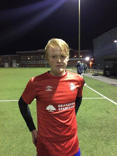 Drangedals toppscorer Sander Heimdal sendte bortelaget i ledelsen, men det holdt ikke helt inn.