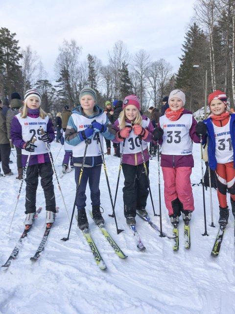 I MÅl: Tuva Grønåsen, Eirik Torvetjønn, Amalie Wang-Kristensen, Julia Magnusdottir og Tilla Aasvik gikk alle i niårsklassen.