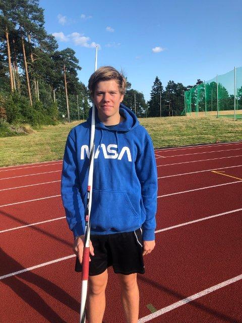 Per Theodor Sørdalen satte ny personlig rekord i spyd nylig.