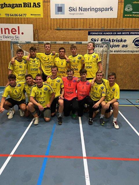 Urædd i gule drakter. Kragerø og Urædd samarbeider og deltok i helgen i en innledende NM-runde for gutter 20 år med et felles lag. Det ble en seier og to tap. Laget gikk ikke videre i NM.