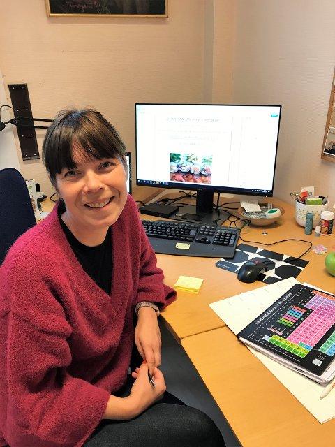 Tove Michelle Hjallum avbildet i forbindelse med TV-aksjonen i fjor.