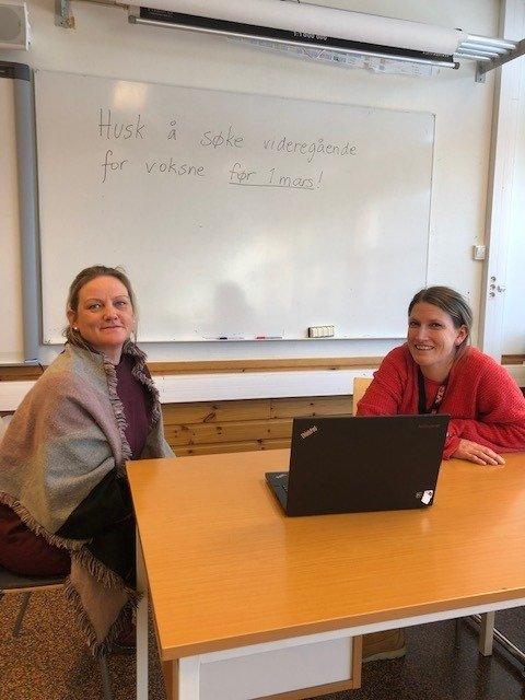 Camilla Sandersen, rådgiver og Rebecka Båld, rektor ved Kragerø Læringssenter