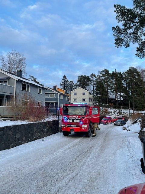 SLUKKET: Pipebrannen i Barnepikeveien var slukket da brannvesenet kom til stedet.
