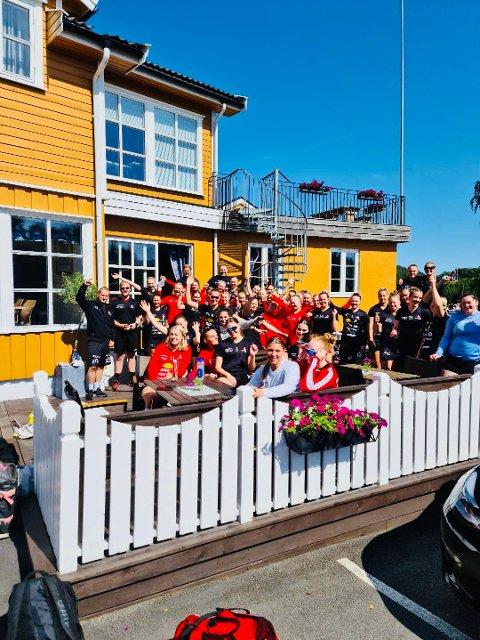 Treningsleir: Follo HK Damer her på Sportellet, under samling i Kragerø.