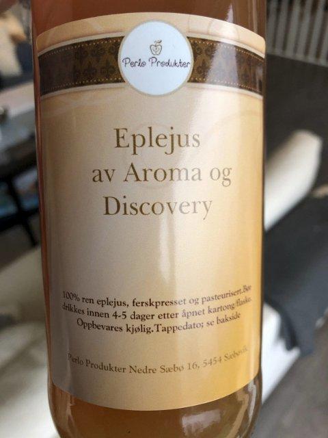 Eigen jus: Lars Arve Sæbø og Ingunn Askeland lagar nydeleg eplejus under merkevara «Perlo produkter».