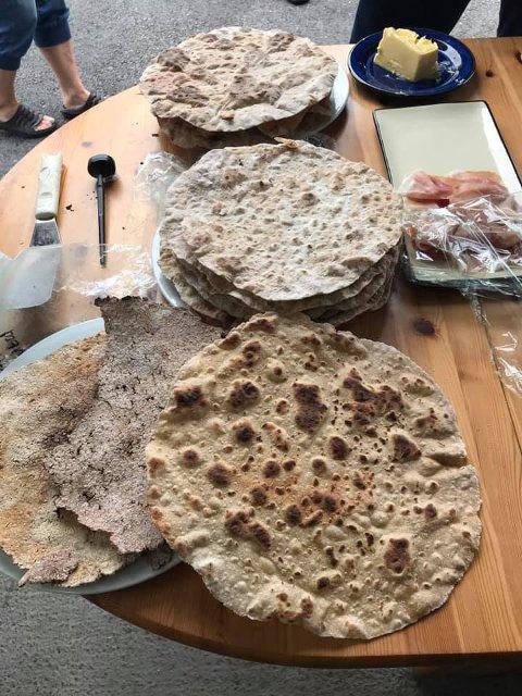 FLATBRØDFEST: Laurdag vert det flatbrødfest i Banken i Ølve. (Foto: Kulturnemnda).